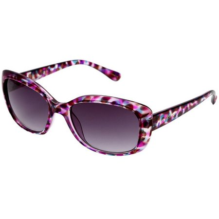 Betsey Johnson Womens Pink & Purple Sunglasses