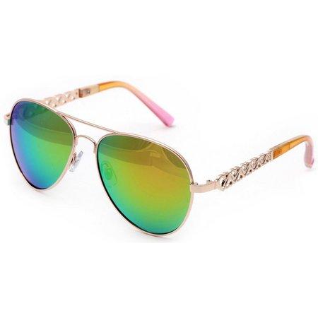 Betsey Johnson Womens Aviator Sunglasses