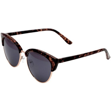 Madden Girl Womens Milky Tortoise Brown Sunglasses