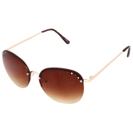 Madden Girl Womens Rimless Square Sunglasses