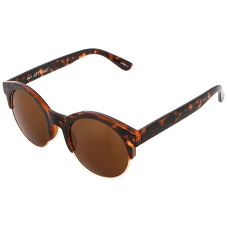 Madden Girl Womens Tortoise Shell Brown Sunglasses