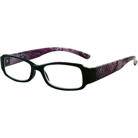 Eyematch Womens Snake Printed Rectangle Readers