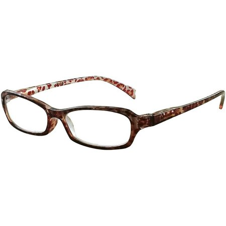 Eyematch Womens Cheetah Print Rectangle Readers