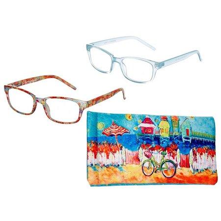 Leoma Lovegrove Womens My Happy Place Reading Glasses