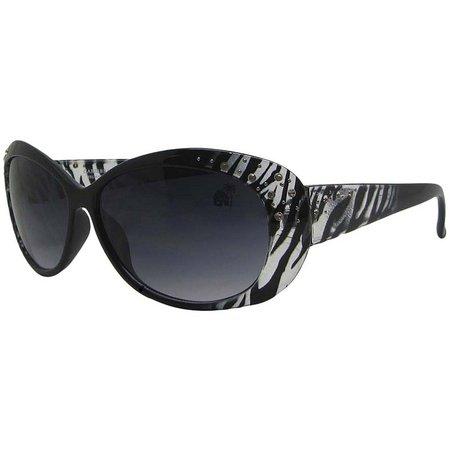 Caribbean Joe Womens Zebra Sunglasses