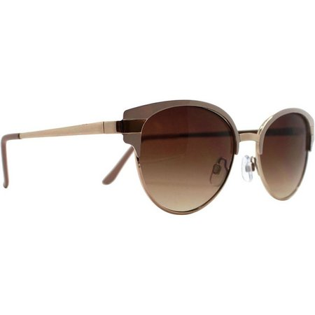 Caribbean Joe Womens Dark Gold Tone Sunglasses