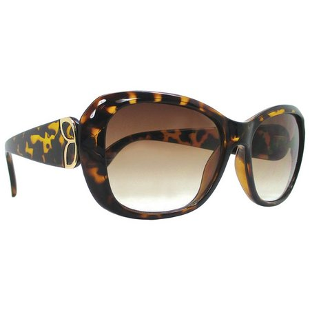 Caribbean Joe Womens Brown Print Sunglasses