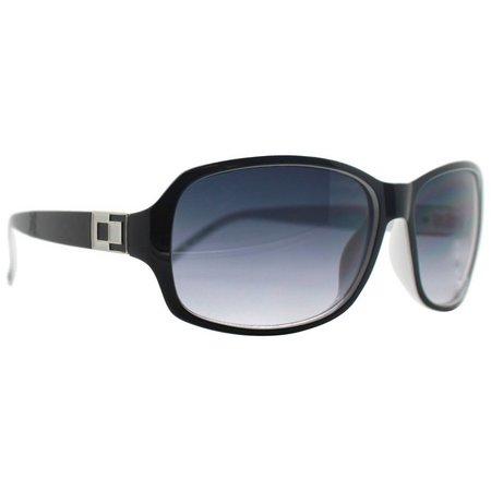 Caribbean Joe Womens Black & White Sunglasses