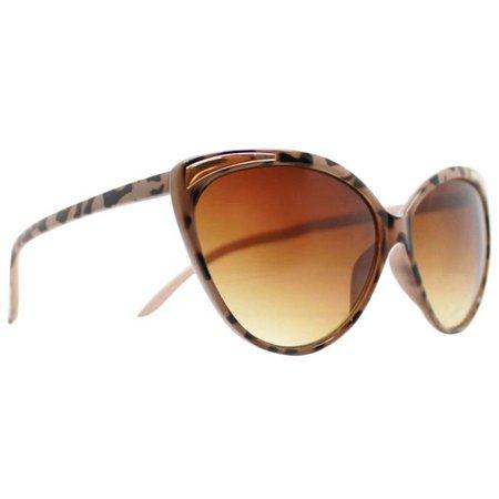 Caribbean Joe Womens Animal Print Cat Eye Sunglasses