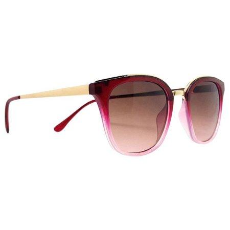 Caribbean Joe Womens Red Ombre Sunglasses