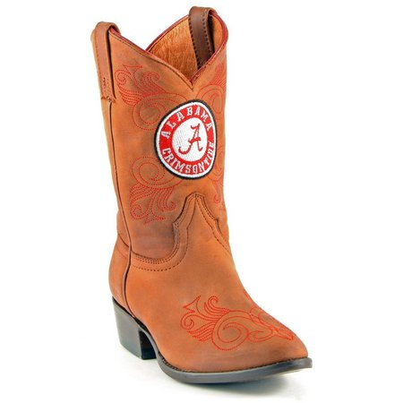 Gameday BAMA Crimson Tide Boys Cowboy Boots