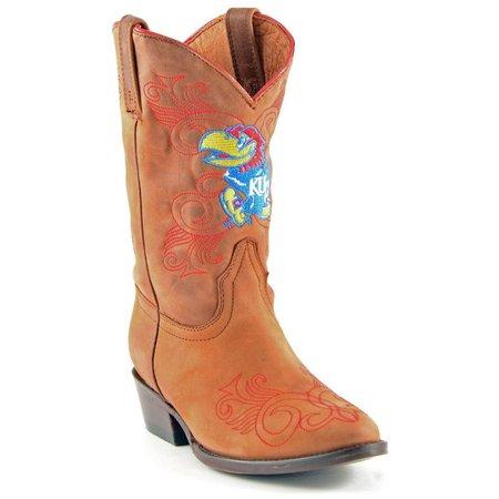 Gameday Kansas Jayhawks Girls Cowboys Boots