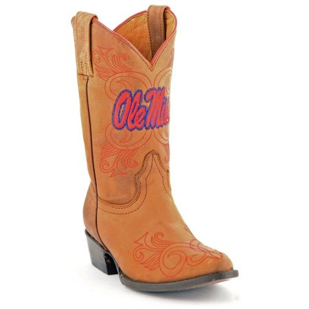 Gameday Ole Miss Rebels Girls Cowboy Boots