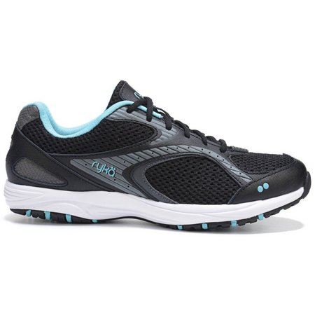 Ryka Womens Dash 2 Black Walking Shoes