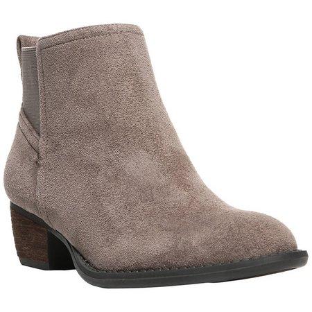 Dr. Scholl's Womens Jorie Microfiber Ankle Boots