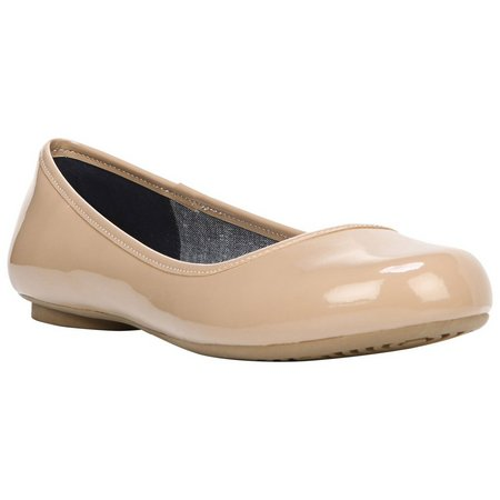 Dr. Scholl's Womens Friendly Patent Flats
