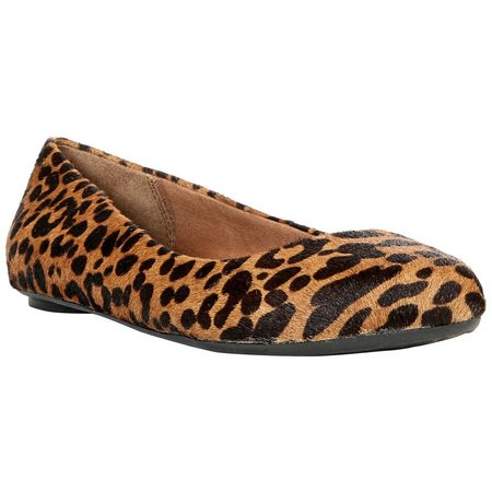 Dr. Scholl's Womens Really Leopard Print Flat