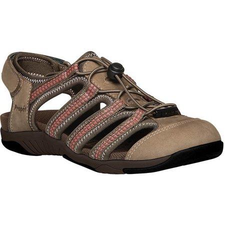 Propet USA Womens Hilde Brown Sandals