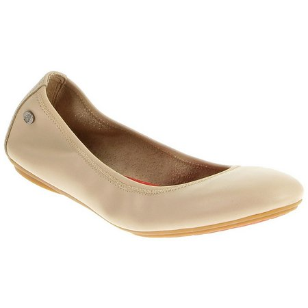 Hush Puppies Womens Chaste Leather Ballet Flats