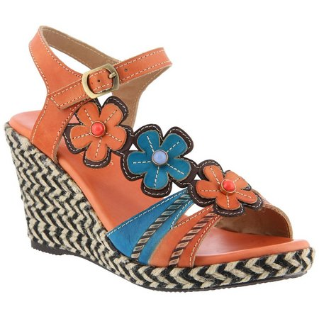 Spring Step Womens L'Artiste Rhianna Wedge Sandals