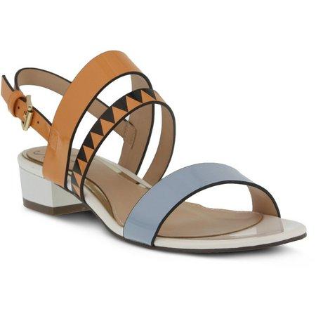 Spring Step Womens Azura Tresna Heeled Sandals