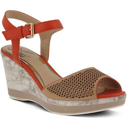 Spring Step Womens Azura Liefde Wedge Sandals
