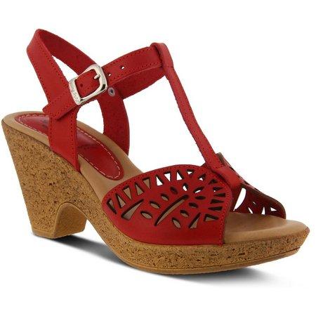 Spring Step Womens Ekam Heeled Sandal