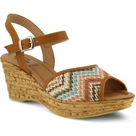 Spring Step Womens Allenisa Wedge Sandals