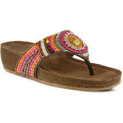 New! Spring Step Womens Azura Anarosa Thong Sandals