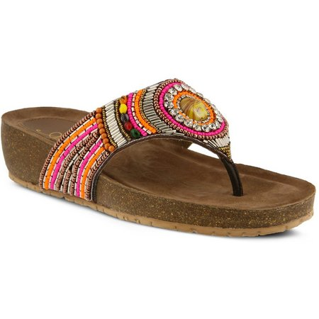 Spring Step Womens Azura Anarosa Thong Sandals