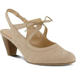 New! Spring Step Womens Finesse Lace-Up Pumps