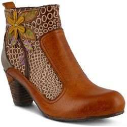 Spring Step Womens L'Artiste Dramatic Floral Boots