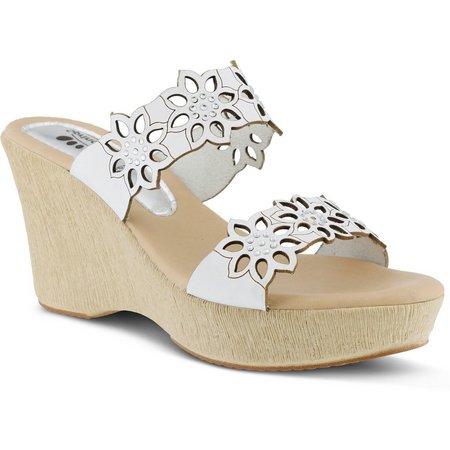 Spring Step Womens Finn Floral Wedge Sandal