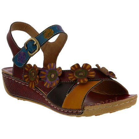 Spring Step Womens L'Artiste Belana Flower Sandals