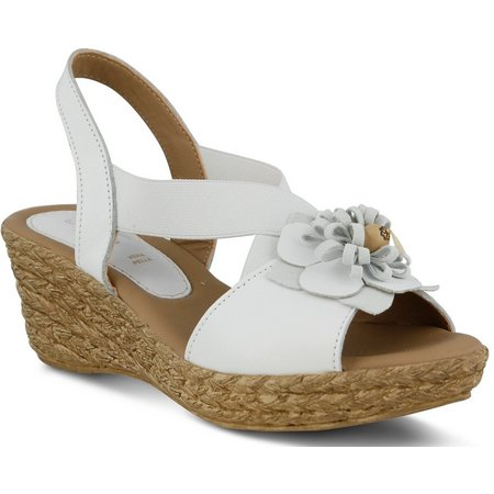 Spring Step Womens Ruby Mae Wedge Leather Sandals