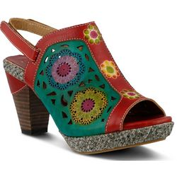 Spring Step Womens Belen Peep-Toe Sandals
