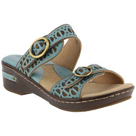 Spring Step Womens L'Artiste Duobank Slide Sandals