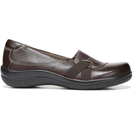 Cheap Sale Shopping Online For Sale Online Store Natural Soul Ilena Slip On(Women's) -Navy Leather 2018 Newest For Sale Sale Recommend Outlet For Sale lwc7F818G