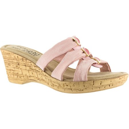 Easy Street Womens Tuscany Andrea Wedge Sandals