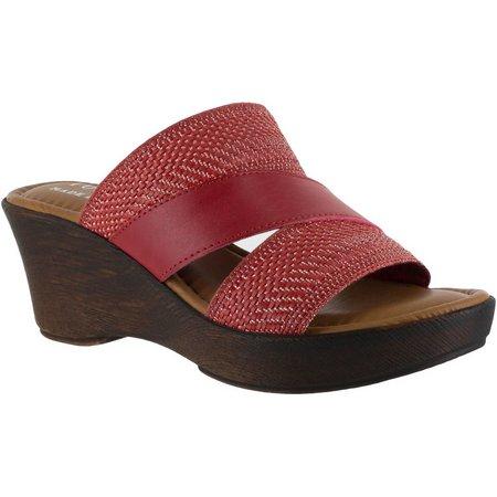 Easy Street Womens Tuscany Positano Wedge Sandals