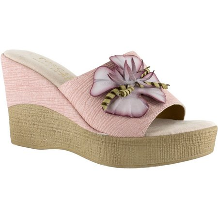 Easy Street Womens Tuscany Castello Wedge Sandals