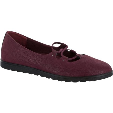 Easy Street Womens Effie Laced Flats