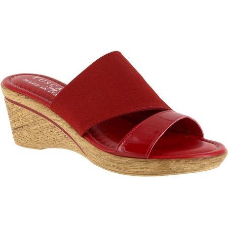 Easy Street Womens Adagio Wedge Sandals