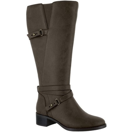 Easy Street Womens Carlita Plus Wide Calf Boots