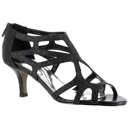 Easy Street Womens Flattery Glitter Dress Sandals