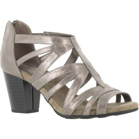 Easy Street Womens Amaze Metallic Dress Sandals