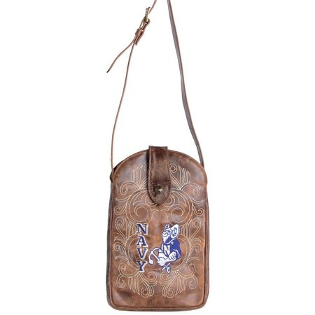 Gameday Boots Navy Midshipmen Crossbody Handbag