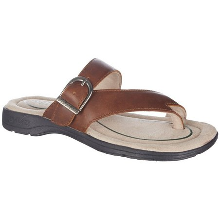 Eastland Womens Tahiti II Buckle Thong Sandals