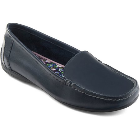 Eastland Womens Crystal Leather Loafers