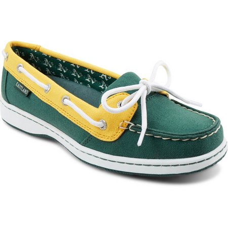 Oakland athletics womens boat shoes by eastland bealls for Outboard motor shop oakland